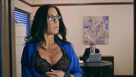 Busty latina MILF fucks the bank clerk to get a loan